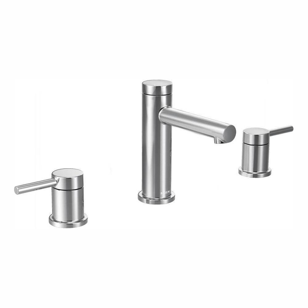 MOEN Align 8 in. Widespread 2-Handle Bathroom Faucet Trim Kit in Chrome (Valve Not Included)