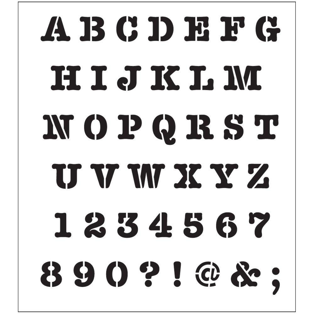 graphic relating to Printable Font Stencils identify FolkArt Alphabet Hefty Typewriter Laser Printing Stencil