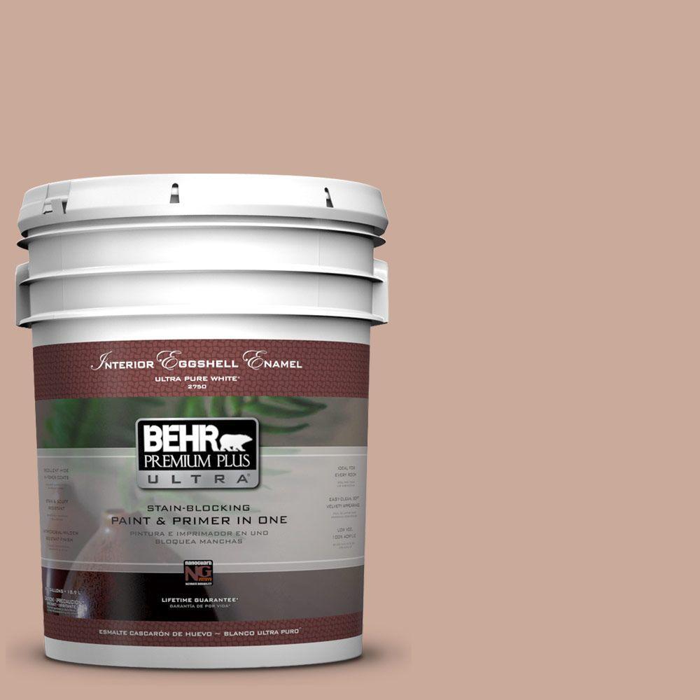 BEHR Premium Plus Ultra 5-gal. #ICC-97 Powdered Allspice Eggshell Enamel Interior Paint