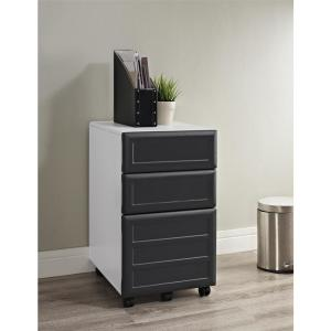 Charmant +2. Ameriwood Mansfield 3 Drawer Gray And White Mobile File Cabinet