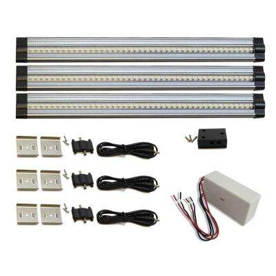 3-Piece Kit 12 in. Neutral White, Hard-Wired LED 3 Strip Kit, 4000K