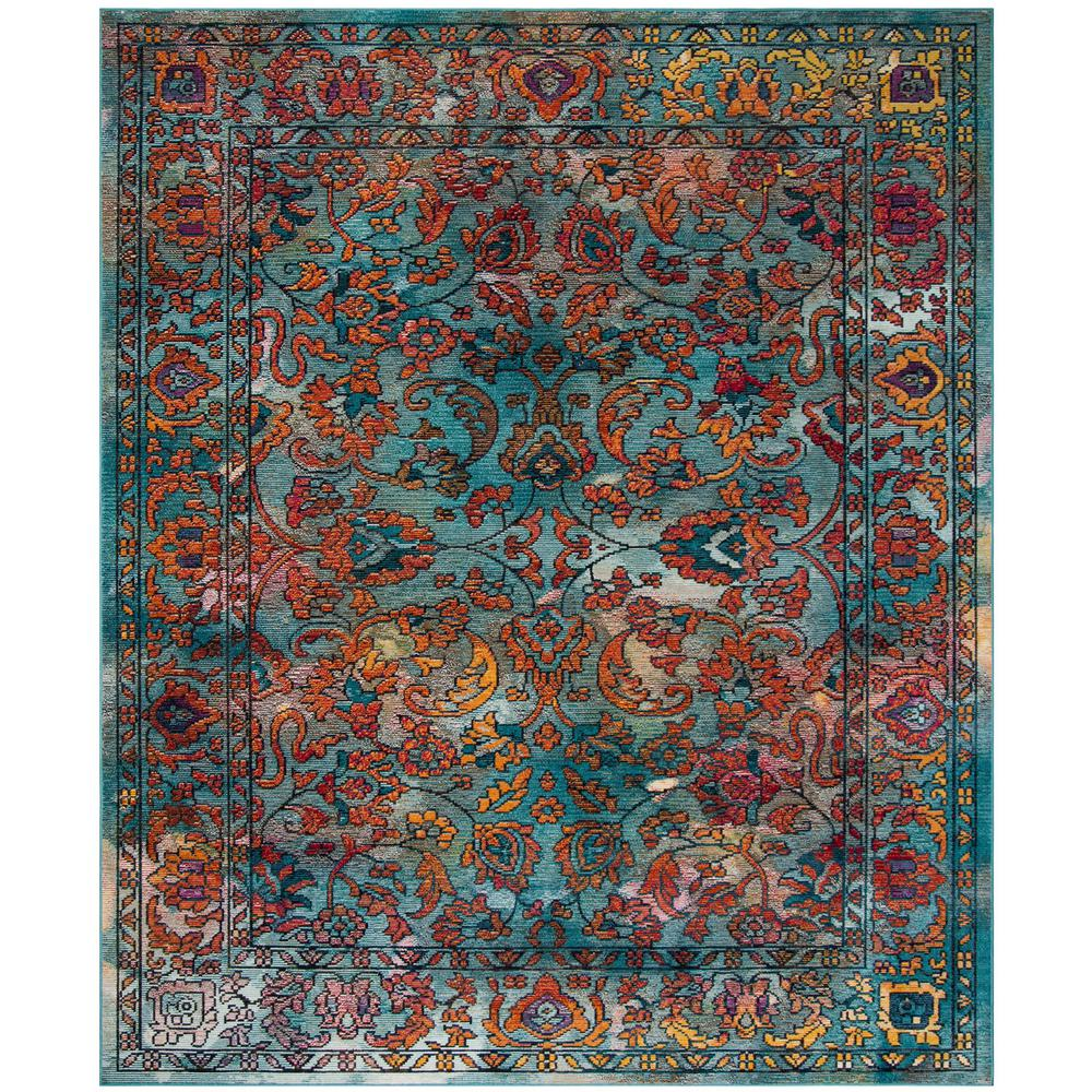 safavieh madison blue orange 8 ft x 10 ft area rug mad140a 8 the home depot. Black Bedroom Furniture Sets. Home Design Ideas