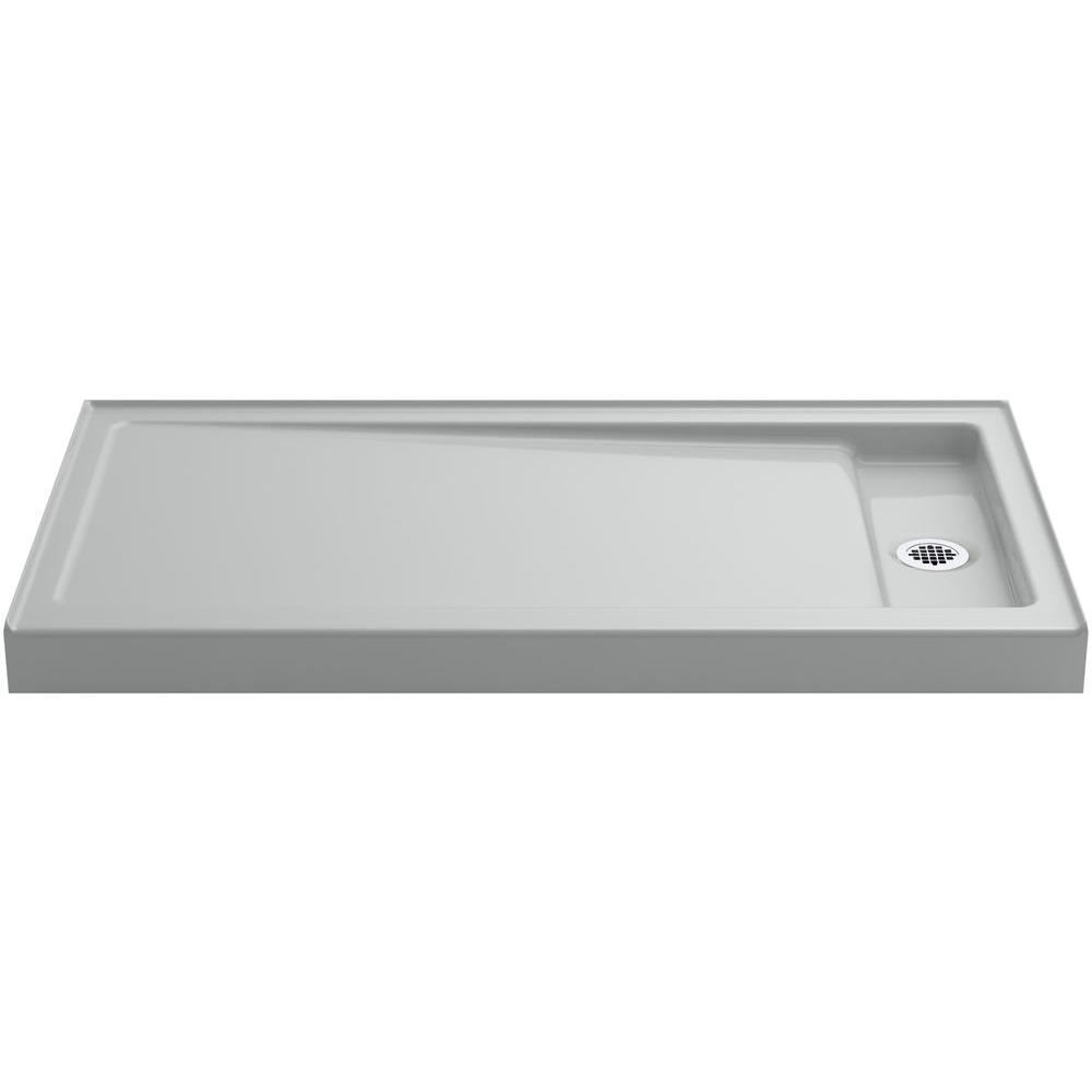 KOHLER Bellwether 60 in. x 32 in. Single Threshold Shower Base in Ice Grey