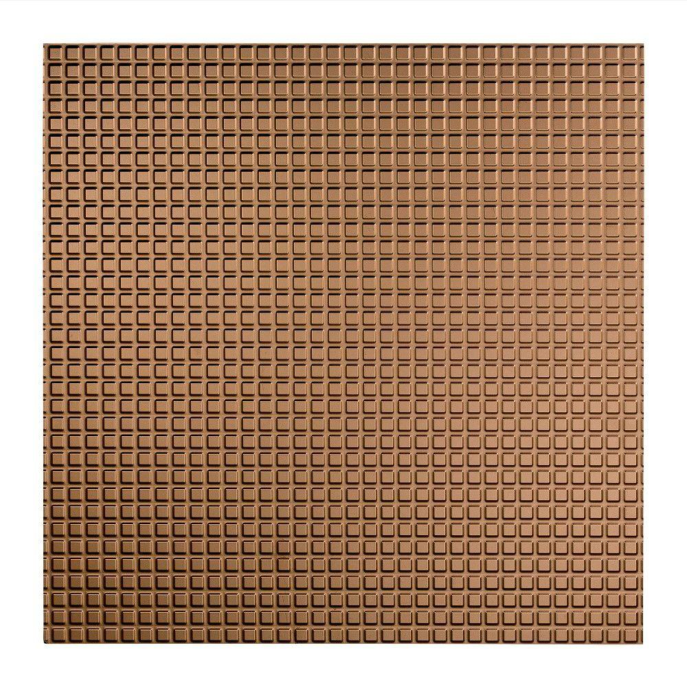 Fasade Square - 2 ft. x 2 ft. Lay-in Ceiling Tile in Argent Bronze