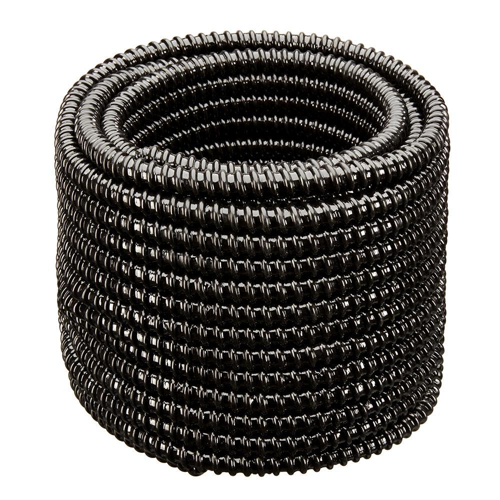 3/4 in. Dia x 100 ft. UL Sizing Black Non Kink, Corrugated, Flexible PVC Pond Tubing
