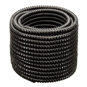2 in. Dia x 100 ft. UL Sizing Black Non Kink, Corrugated, Flexible PVC Pond Tubing
