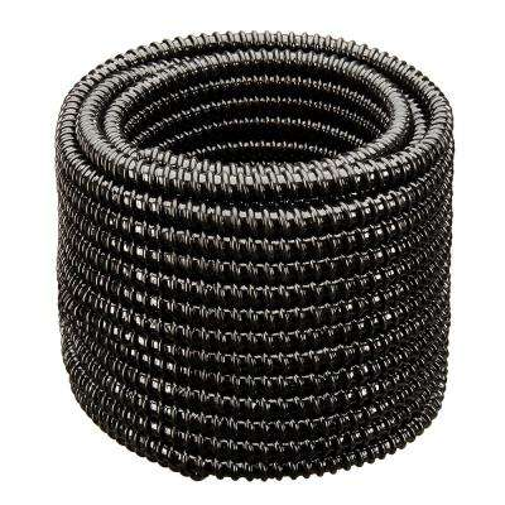 3/4 in. Dia x 100 ft. MM Sizing Black Non Kink, Corrugated, Flexible PVC Pond Tubing