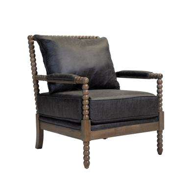 Eves Gray Upholstered Fabric Accent Chair