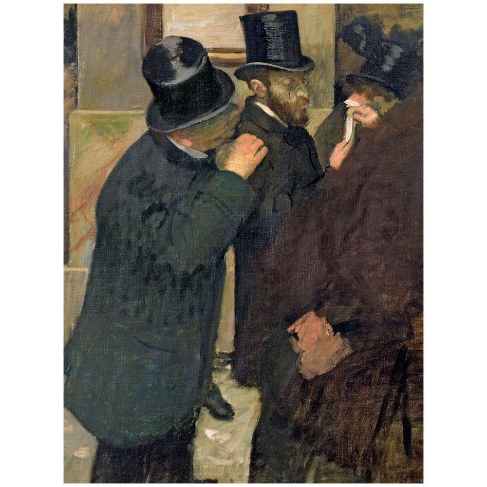 26 in. x 32 in. At the Stock Exchange 1878 Canvas