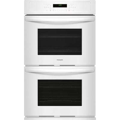 30 in. Double Electric Wall Oven Self-Cleaning in White