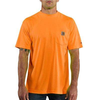 Personal Protective Regular Small Brite Orange Polyester Short-Sleeve T-Shirt