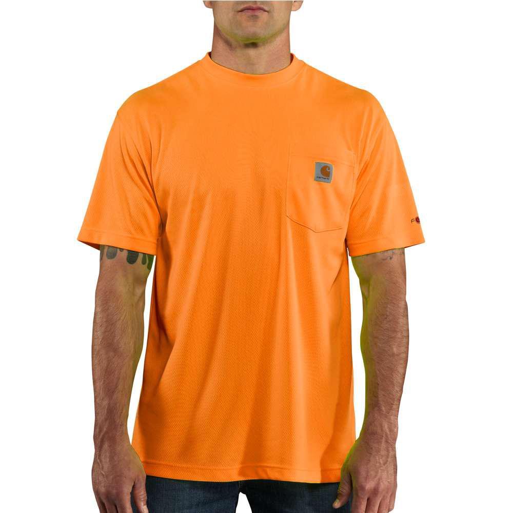 Personal Protective Regular Small Brite Orange Polyester Short-Sleeve T-Shirt