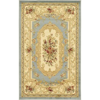 Versailles Henry Light Blue 3' 3 x 5' 3 Area Rug