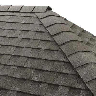 Timbertex Pewter Gray Double-Layer Hip and Ridge Cap Roofing Shingles (20 lin. ft. per Bundle) (30-pieces)
