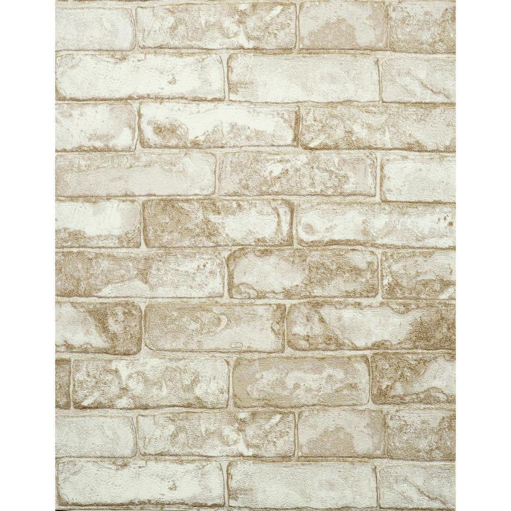 York Wallcoverings Rustic Brick Wallpaper RN1029