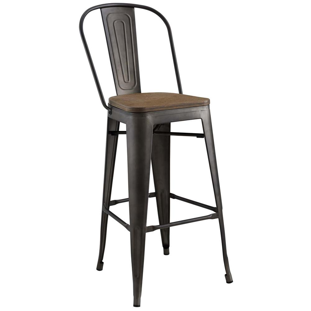 Modway Promenade Brown Bar Stool Product Image