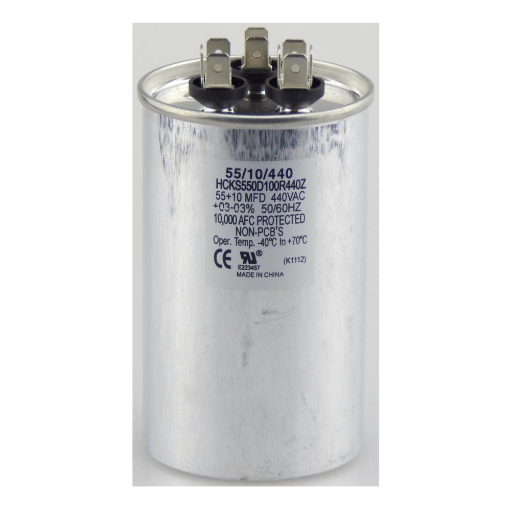440-Volt 15/5 MFD Dual Rated Motor Run Round Capacitor