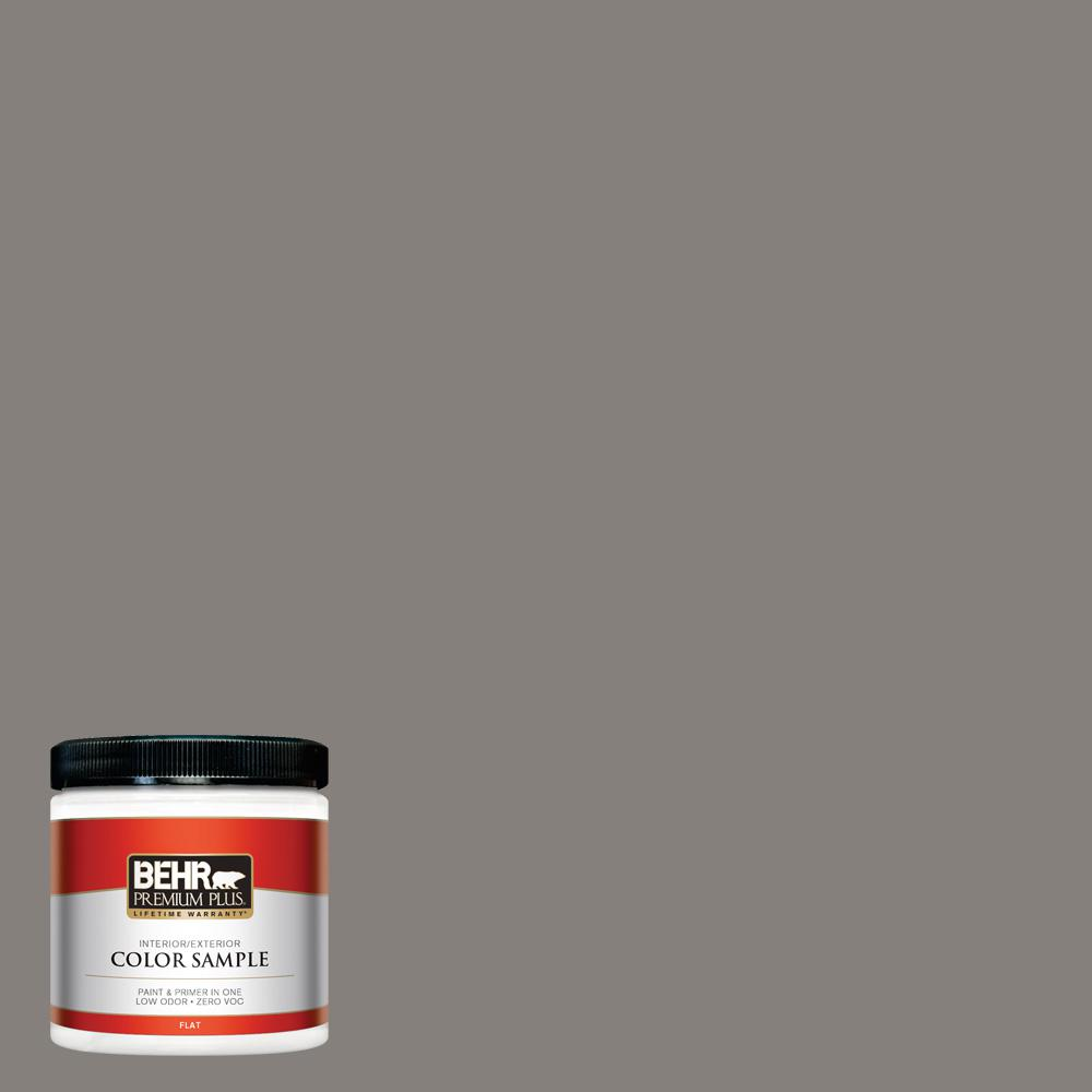 8 oz. #PPU18-17 Suede Gray Flat Interior/Exterior Paint Sample
