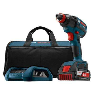 18 Volt Lithium-Ion Cordless 1/4 in. Hex and 1/2 in. Brushless Socket-Ready Impact Driver Kit with Wireless Charging Kit