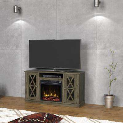 Bayport 47.50 in. Media Console Electric Fireplace TV Stand in Spanish Gray
