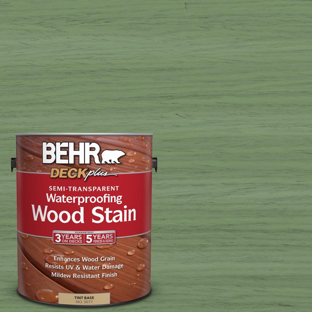 1 gal. #ST-132 Sea Foam Semi-Transparent Waterproofing Wood Stain