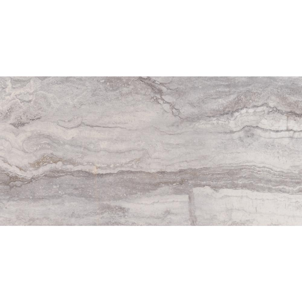 Pietra Bernini Carbone 12 In X 24 Polished Porcelain Floor