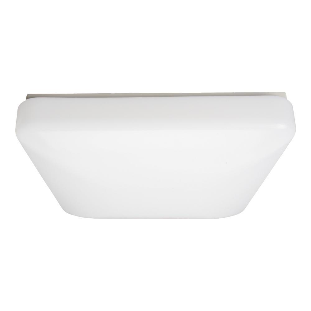 Maximus 15 in 22 watt white integrated led ceiling flush mount square puff light