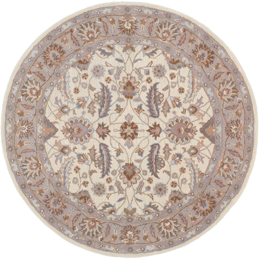 Charles Slate (Grey) 8 ft. x 8 ft. Round Indoor Area Rug