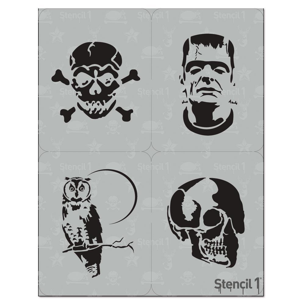 Halloween Stencil (4-Pack)