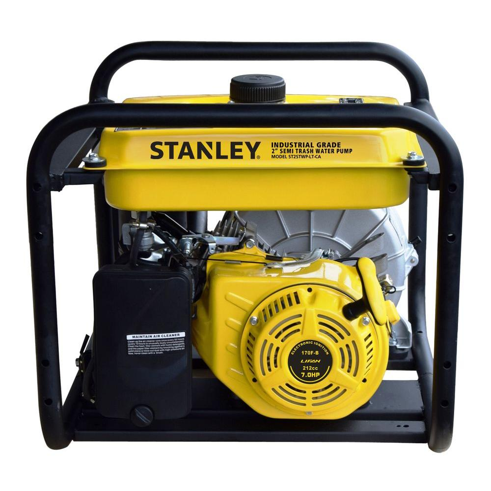 Stanley 7 HP Non-Submersible 2 in. Semi Trash Water Pump