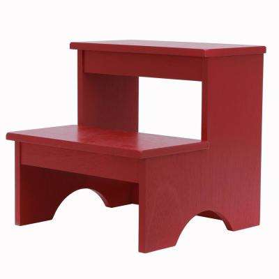 Step-Up Red Step Stool Bench