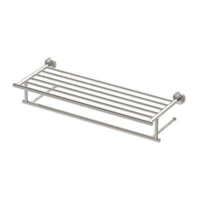 Glam 25.75 in. W Hotel Spa Rack in Satin Nickel