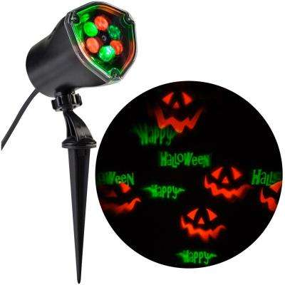 LED Chasing Happy Halloween Strobe Spotlight