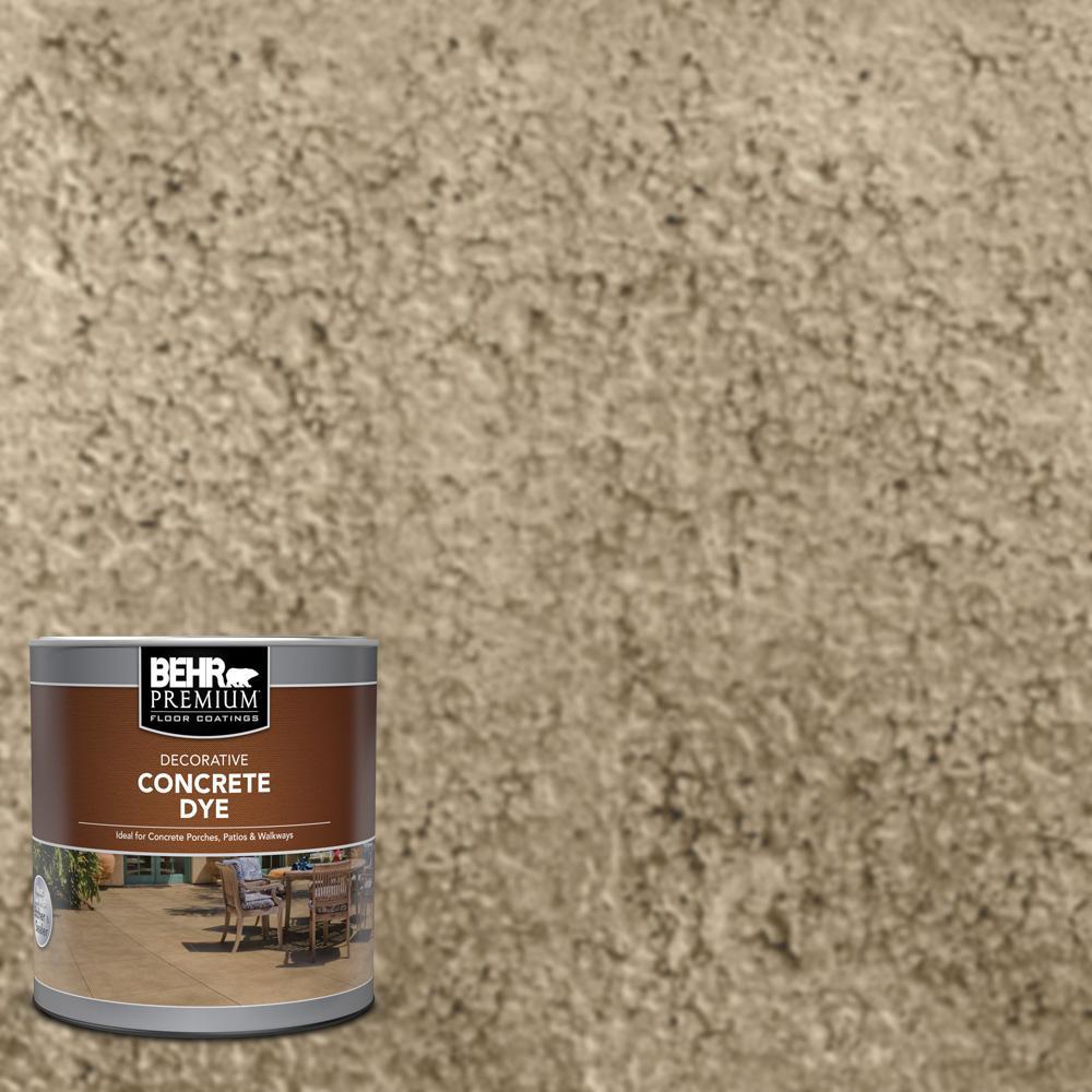 BEHR Premium 1 qt. #D-870 Sand Interior/Exterior Concrete Dye
