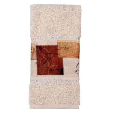 Tranquility Cotton Tip Towel in Natural