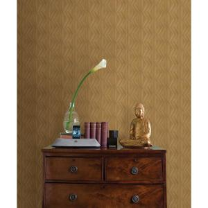 Lena Brown Wood Veneers Wallpaper Sample