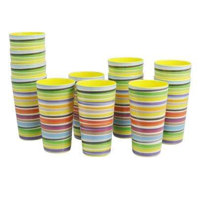Color Celebration Yellow Melamine Tumbler Set (12-Pack)