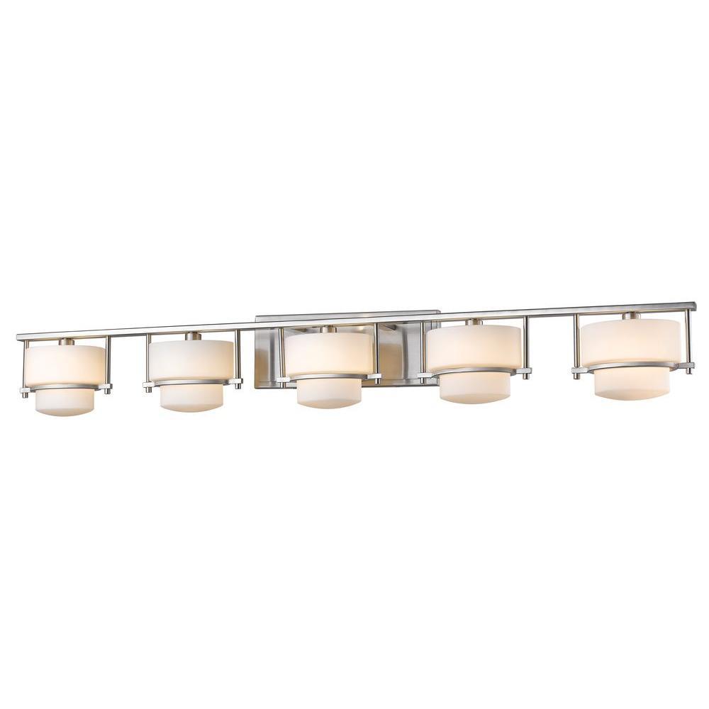 Christen 5-Light Brushed Nickel Bath Vanity Light