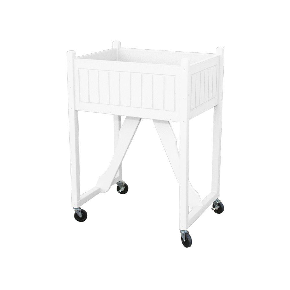 Eagle One 27 in. x 20 in. White Recycled Plastic Commercial Grade Raised Garden Bed