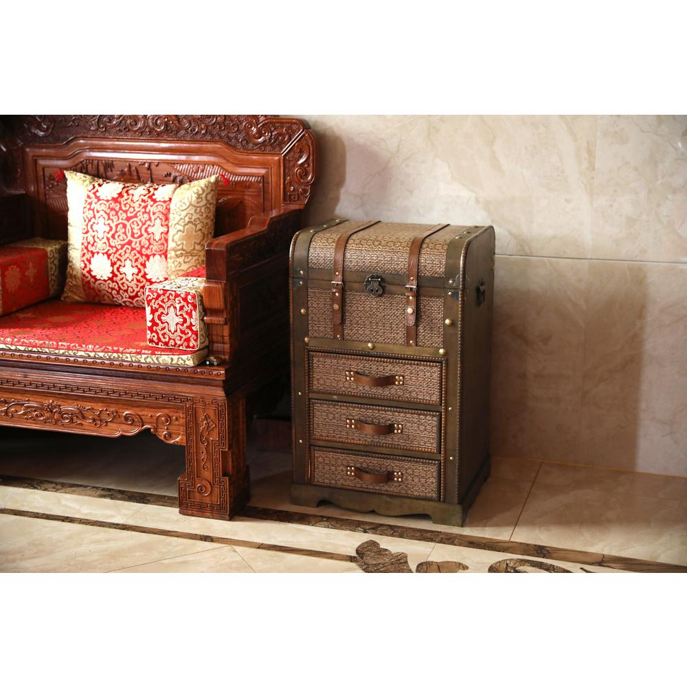 timeless design d7196 4ba27 Vintiquewise Decorative Wooden Storage Chest with 3 Drawers