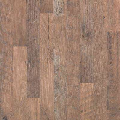 Take Home Sample - Willow Creek Collection Aged Bark Oak Laminate Flooring - 5 in. x 7 in.