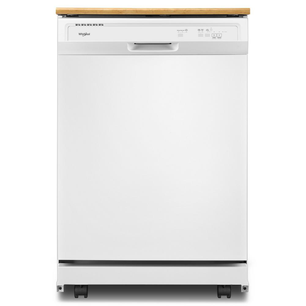 Whirlpool Heavy-Duty Portable Dishwasher in White with 12 Place Setting Capacity-WDP370PAHW ...
