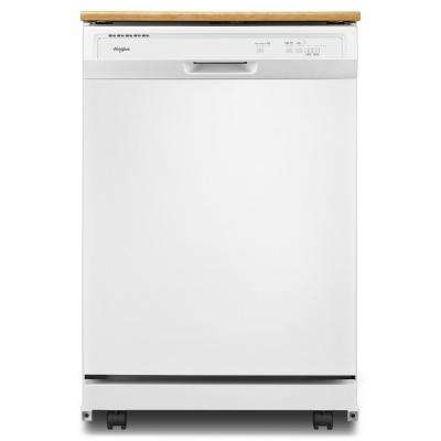 Heavy-Duty Portable Dishwasher in White with 12 Place Setting Capacity