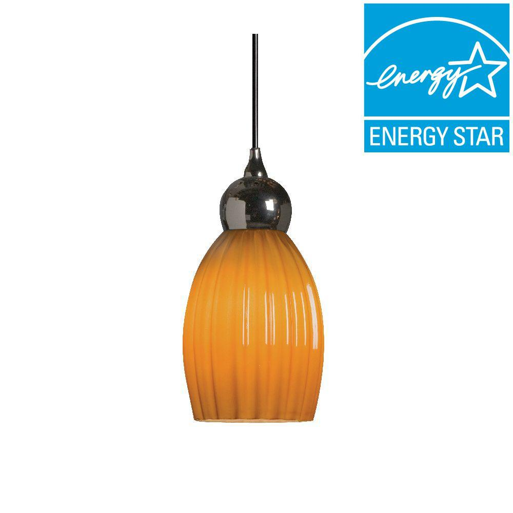Radionic Hi Tech Vietra Single 1-Light Amber Hanging Pendant