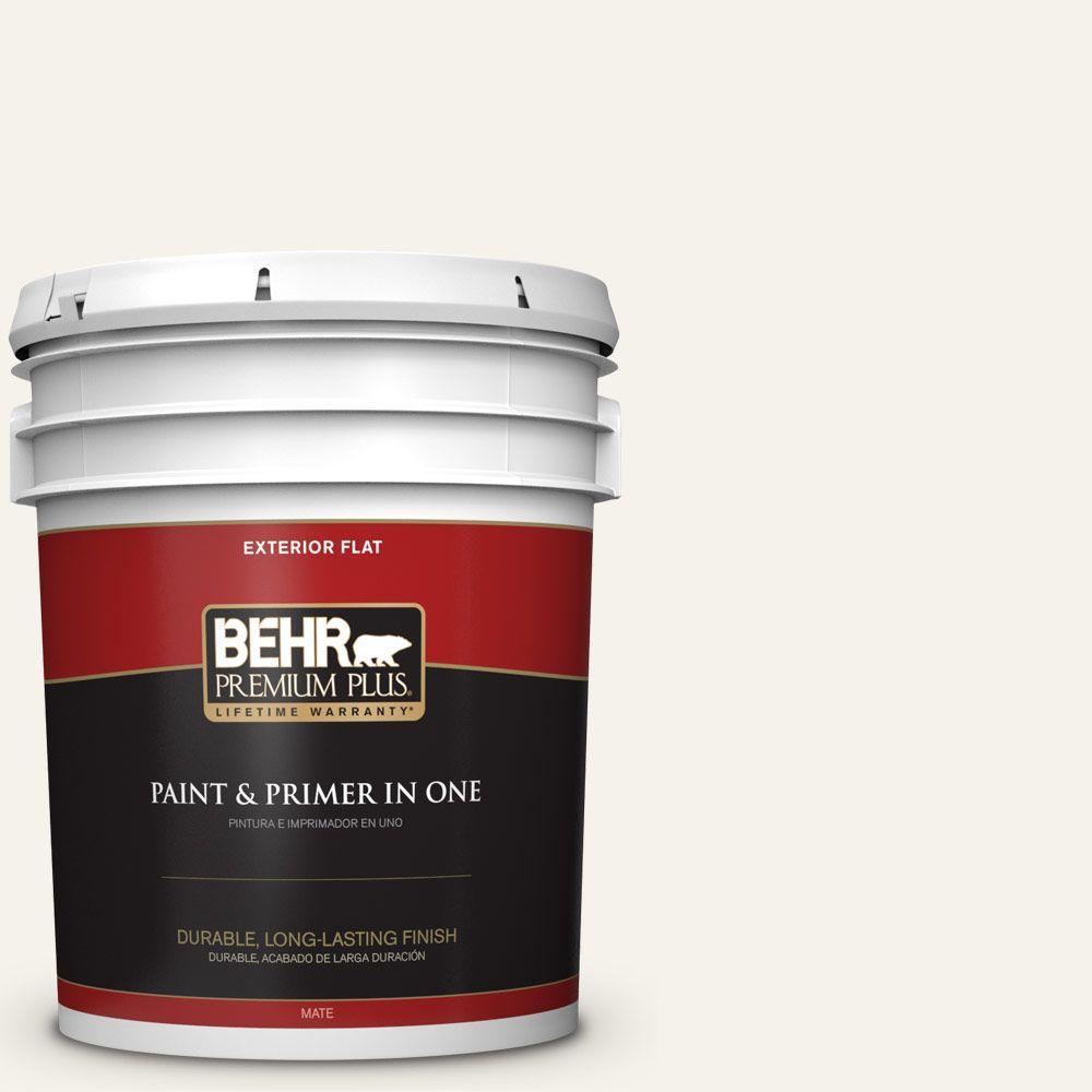 5-gal. #BWC-11 Fresh Popcorn Flat Exterior Paint