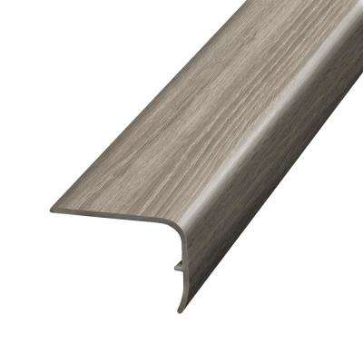 Natural Oak Warm Grey 1.32 in. Thick x 1.88 in. Wide x 78.7 in. Length Vinyl Stairnose Molding