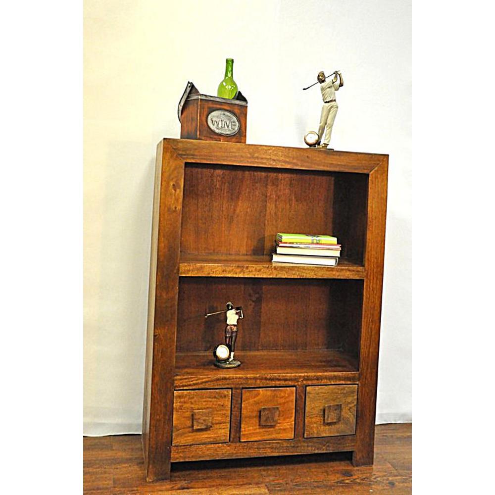 Revere Brown Storage Open Bookcase