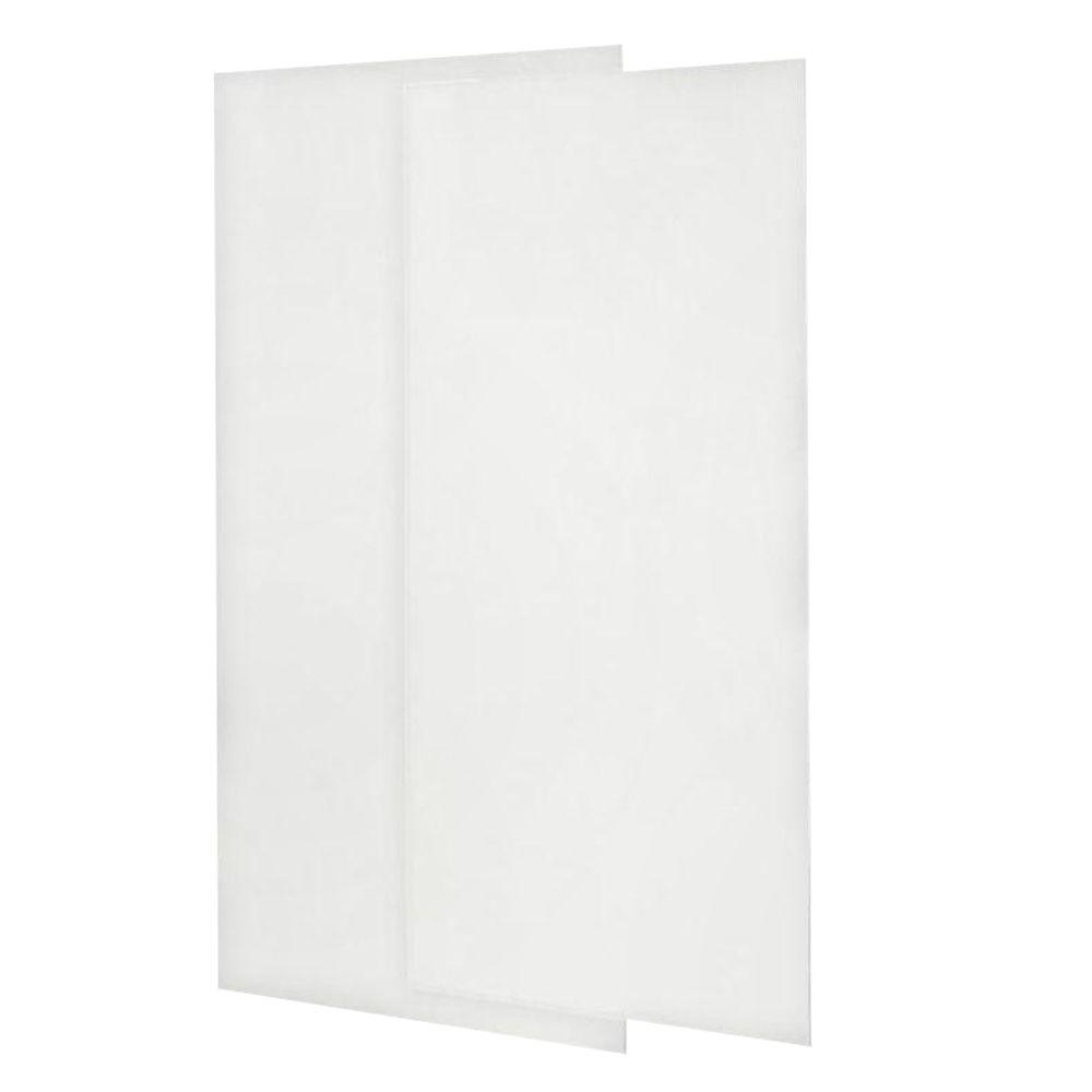 Swan 36 in. x 96 in. 2-piece Easy Up Adhesive Shower Wall Panels in ...