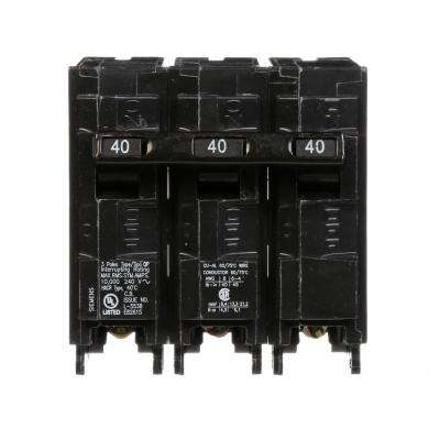 40 3 Pole Breakers Circuit Breakers The Home Depot
