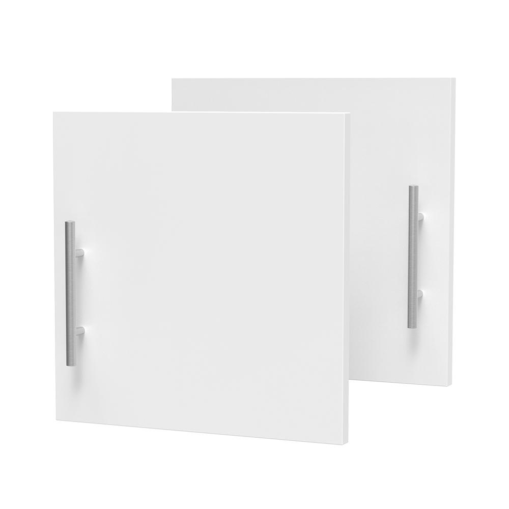 Modifi 0.75 in. D x 15 in. W x 15 in. H Horizon Door Kit for Utility Wall Cabinet Melamine Closet System with Handle in White